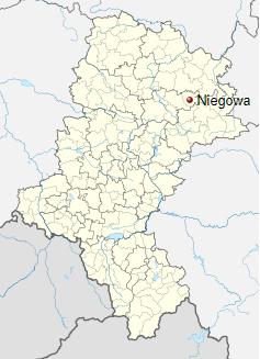 Niegowa - Mapa - Śląsk
